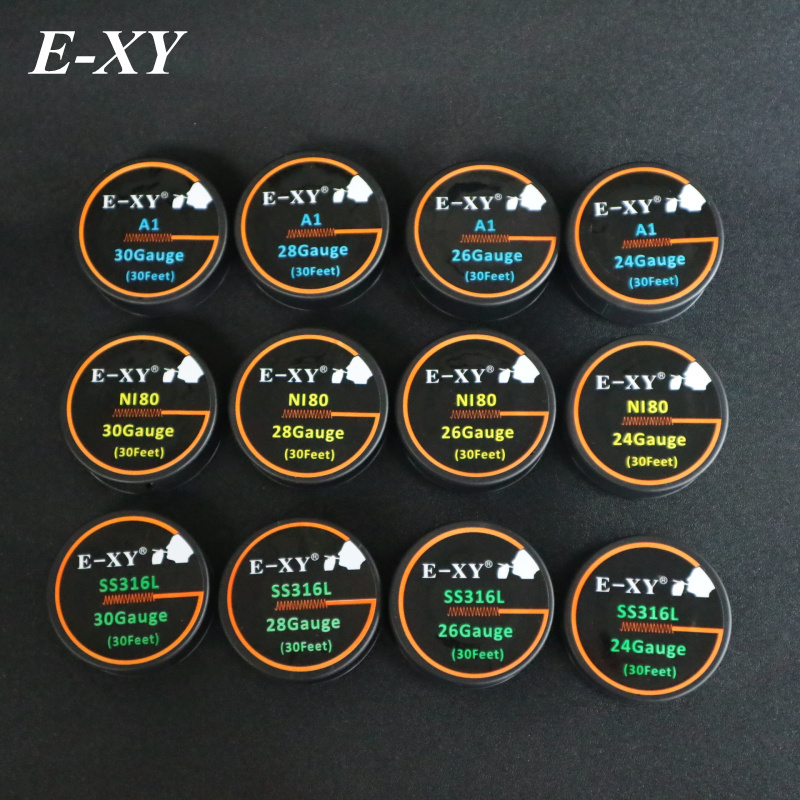 E-XY 10m/roll NI80 Wire heating wires for electronic cigarette RDA RBA RTA Atomizer SS316L DIY Pre-built Coil A1 heating Wires
