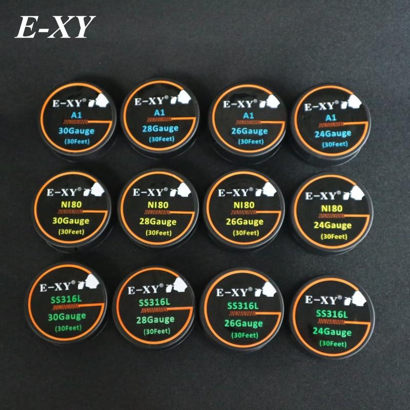 E-XY 10 m / roll NI80 draad verwarmingsdraden voor elektronische - Elektronische sigaretten