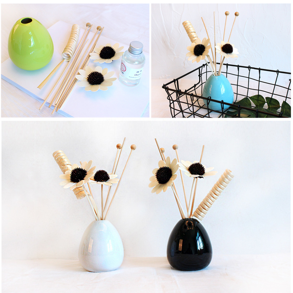 Gift Spa Rattan Incense Office Decor Hotel Fragrance Home Aroma Reed Diffuser Set Aromatherapy Stick Fresh Air Deodorant
