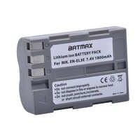 1 Batería de cámara EN-EL3e EN EL3e de 1800mAh para Nikon EN-EL3e y Nikon D50, D70, D70s, D80, D90, D100, D200, D300, D300S, D700