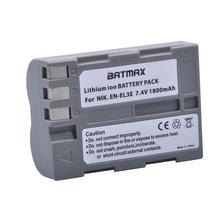 1Pc 1800mAh EN-EL3e EN EL3e Camera Battery for Nikon EN-EL3e and Nikon D50 D70 D70s D80 D90 D100 D200 D300 D300S D700 cheap Batmax CN(Origin) Standard Battery Rechargeable Li-ion battery 7 4V