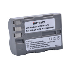 1Pc 1800mAh EN-EL3e EN EL3e Camera Battery for Nikon EN-EL3e and Nikon D50, D70, D70s, D80, D90, D100, D200, D300, D300S, D700
