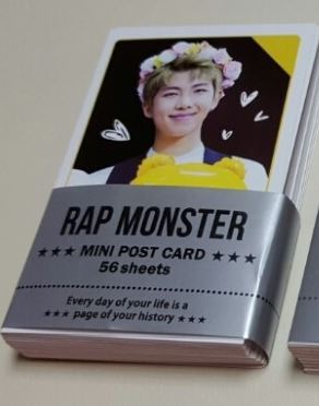 BTS Mini Postcard Set - 56sheets - [UnOfficial]  RAP-MONSTER  - Version (ONLY RAP-MONSTER postcard 56sheets) 2017 hot selling usb electric go black head deep pores clean nose face waterproof ultrasonic vibration cleansing brush