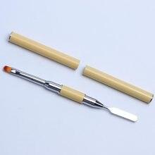 Full Beauty – brosse à ongles Double taille, Extension, stylo de construction rapide, brosses d'art des ongles, Palette de couleurs, accessoires de manucure, 1 pièce, CH064