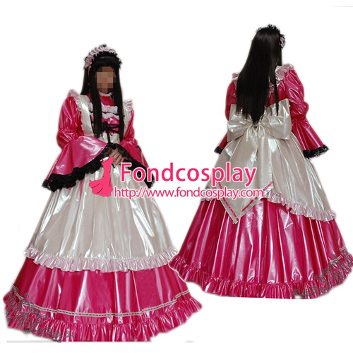 Lockable PVC Maid Dress Maid Vinyl Uniform Tailor-Made[G1636]