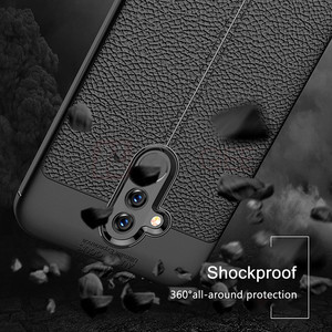 Image 4 - עבור Huawei Mate 20 לייט מקרה Mate 20 Lite כיסוי רך TPU פגוש עור מרקם סיליקון מוקשח מקרה עבור Huawei mate 20 לייט