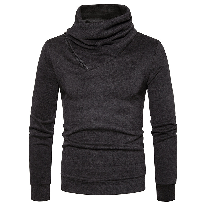 Ouma spring new collar zipper long sleeve mens sweater sweater