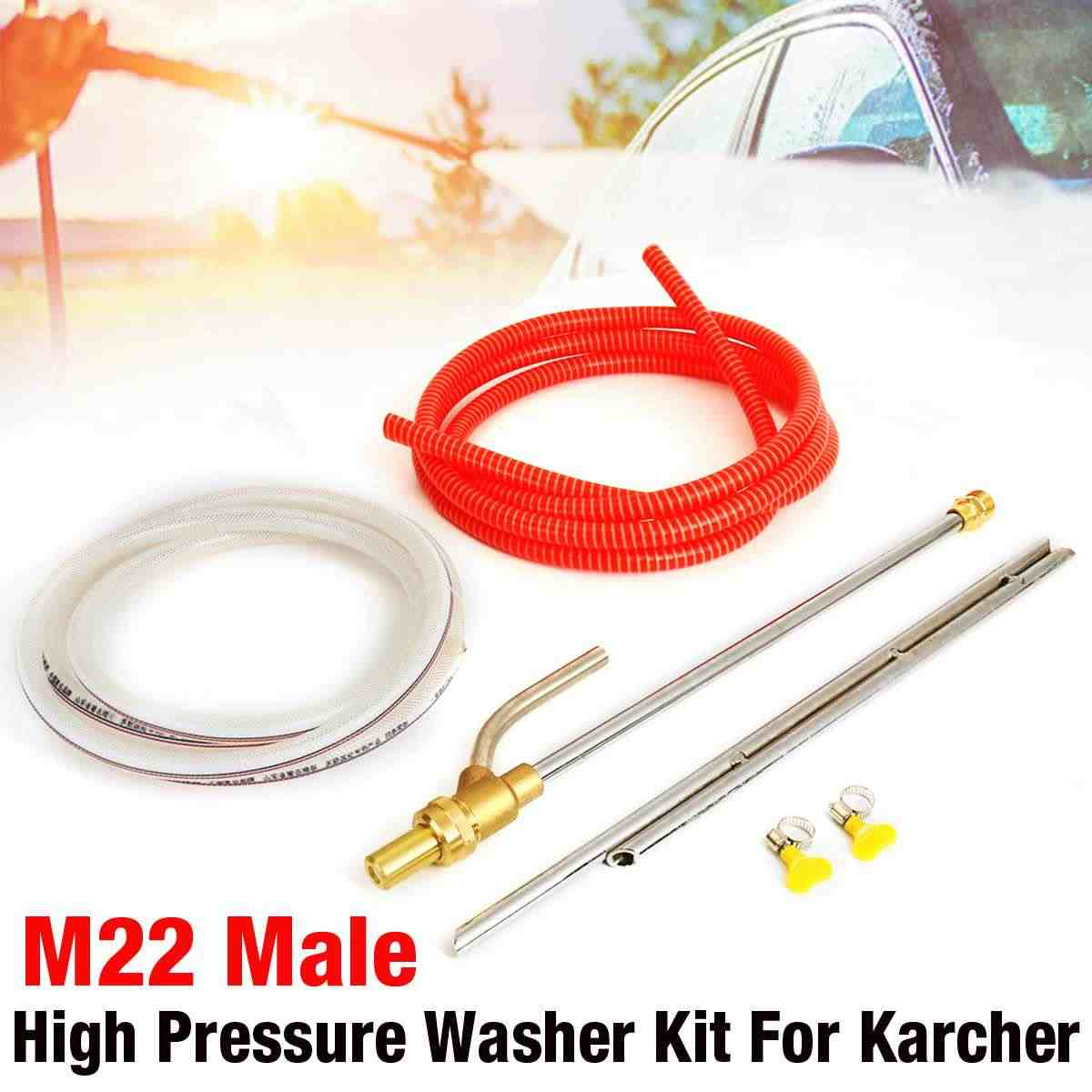 1Pcs Sandblasting Lance Sand Wet Blasters Kit M22 Male Pressure Washer Remove Rust Paint Sandblasters Kit
