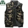 AFS JEEP Falow Mandarina Cuello Grueso Camuflaje Chaleco, Chaqueta Militar de Invierno Hombre Abrigos, Motocicleta En General Flojos escudo