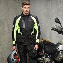 НЕРВА мужская Мотокросс Off-Road Jaqueta Ткань Оксфорд Водонепроницаемый Мотоцикл Езда Гонки Мото Куртка с Пятью Protector Одежда