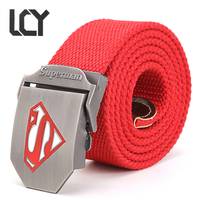 LCY New Tactical Belt Superman Canvas Wide Men S Military Belts Army Thicken Buckle Ceinture