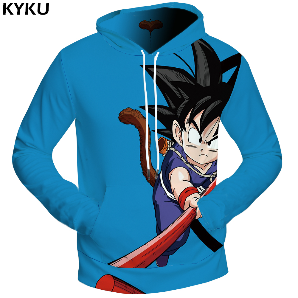 KYKU Dragon Ball Z Sweatshirts Kid Goku Clothing Funny 3d hoodies Day Sweatshirts Male Hoodie Sweat shirt Men Cool 2018