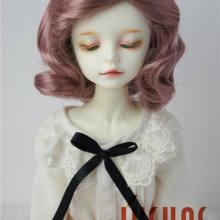 JD338 MSD 1/4 мягкая волна BJD синтетический мохер куклы парики 7-8 дюймов Короткие ретро европейские BJD волосы куклы
