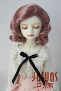 JD338 MSD 1/4, pelucas de muñeca mohair sintético de onda suave BJD de 7-8 pulgadas, pelo corto Retro europeo de muñeca BJD