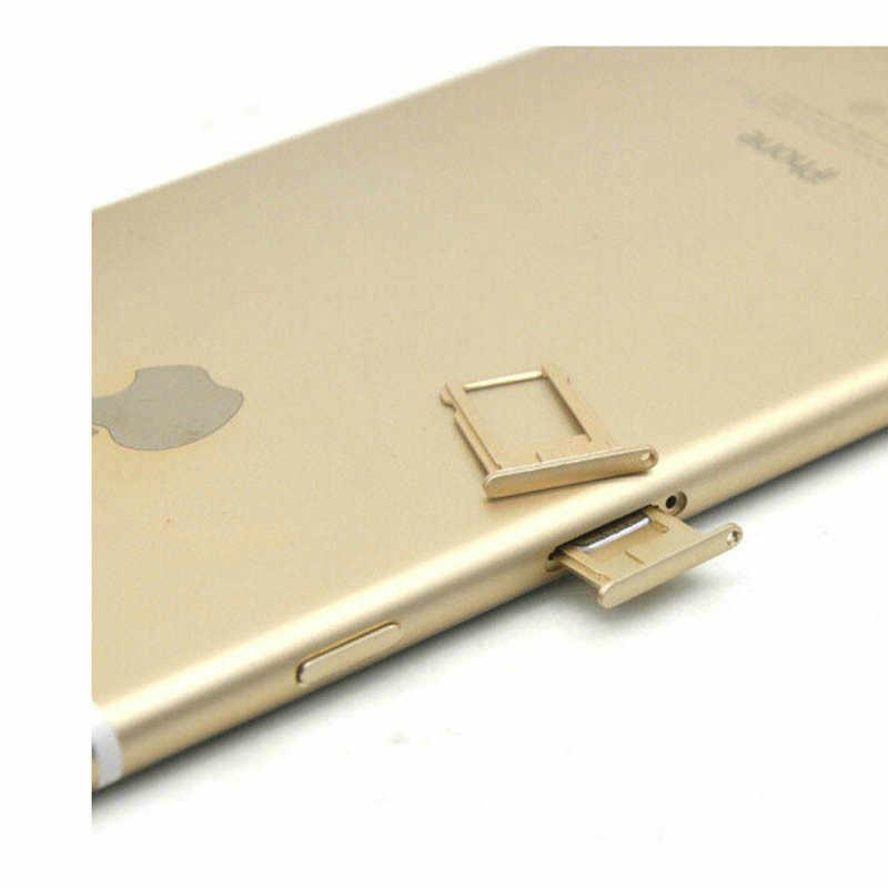 UVR 2 Tes bandeja de tarjetas Micro Sim de Metal con Pin eyector abierto para iPhone 6 De Apple 6S 6 Plus 6s Plus tarjetas Sim soporte adaptador Sims