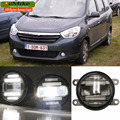 eeMrke Car Styling For Dacia Lodgy 2013-up 2 in 1 Multifunction LED Fog Lights DRL With Lens Daytime Running Lights