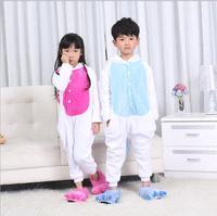 New 2016 Child Animal Onesie Unicorn Pajamas For Kids Halloween Cosplay Costume For Girls Boys Pijama