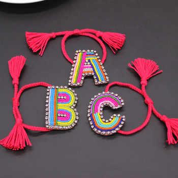 2018 new Customed Letter Boho Bib Bohemia  Boho Handmade Braided Bracelets Vintage Cotton Rope Ethnic Charm Bracelets 799 - DISCOUNT ITEM  11% OFF All Category