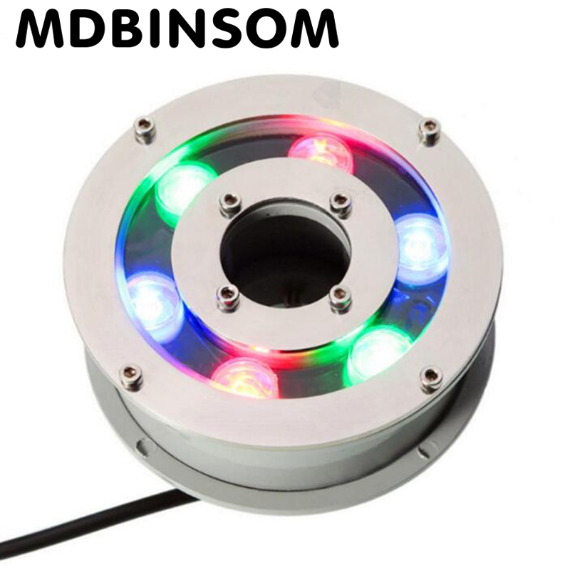 RGB Swimming Pool Lamp 6W 9W 12W 15W 18W IP68 Waterproof LED Underwater Light DC12V For Outdoor Landscape Fountain Pond 9w led flood lights outdoor fountain lamps holiday lighting garden underwater ip68 waterproof rgb swimming pool light dc24v