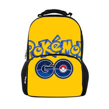 a98b1cef3bd7 Anime Pokemon Go Cartoon Printed Fashion School Bags for Childrens Girls  Boys Backpack for Teen Adolescent Book Bag Sac Mochila
