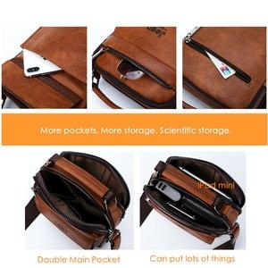 Image 4 - JEEP BULUO Men Shoulder Bags High Quality Handbags Mans Messenger Bag Fashion Split Leather For Men Tote 2019 New 2PC/Set