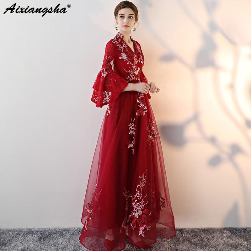 92f47734273 New Embroidery Custom Color Plus Size Prom Dresses 2018 vestido de festa  Prom Dress Lace Long Dress Elegent vestido longo