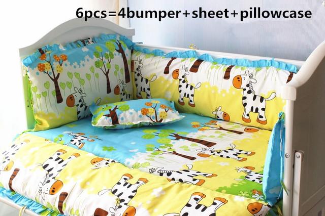 Promoção! 6/7 PCS cavalo 100% algodão conjuntos de cama berço do bebê berço conjunto fundamento do bebê fundamento Do Bebê Edredão, 120*60/120*70 cm