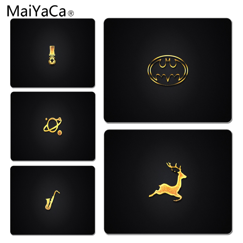 MaiYaCa Simple Black Background Large Mouse pad PC Computer mat Size for 25X29cm Gaming Mousepads