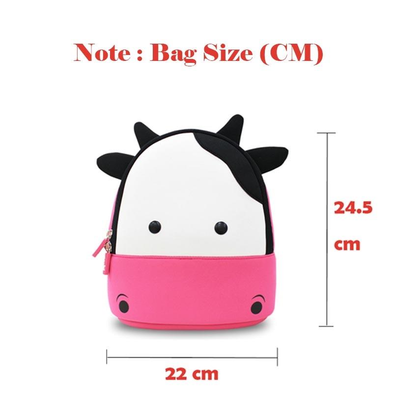 crianças mochila 3d vaca bonito Tipo de Estampa : dos Desenhos Animados