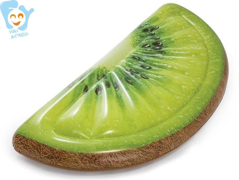 Inflatable Kiwi Fruit Slice Pool Float Water Swimming Floaties Fun Toys Floating Air Bed Mattress Raft