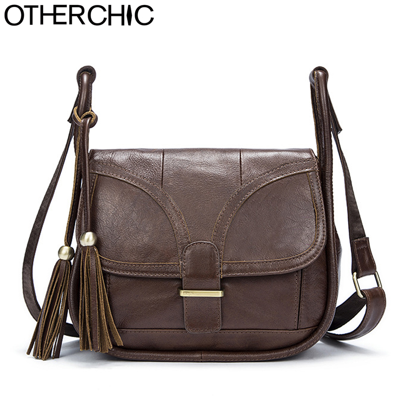 OTHERCHIC Для женщин Винтаж сумка натуральная кожа сумка Для женщин бренд Для женщин сумки кисточка Курьерские сумки дизайнер 7N05-18