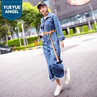 2019 New Hot Fashion Personalized Harem Pants All Match Long Sleeve Rompers Womens Jumpsuit Casual High Quality Denim Overall