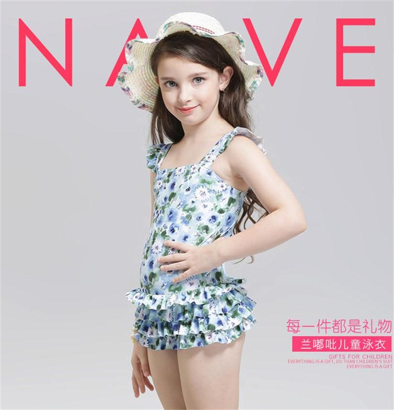 2017 New Children Swimming Cute baby girl swimwear one piece Kids girls swimsuit kid/children swimming Suit One Piece Swim Wear ...