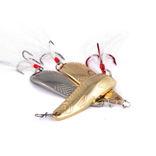1pc Spoon Fishing Lure 20g-10g Metal Bass Baits 2 Colors Spoon Lures Red/Silver Hook Fishing Tackle