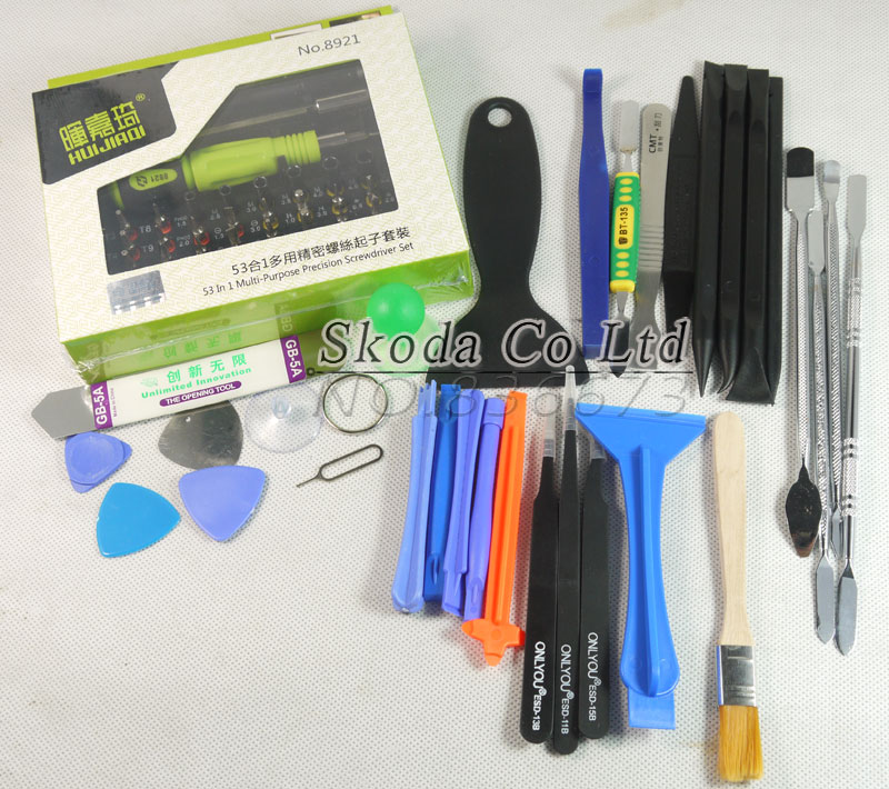Free Shipping 53 In1 Multi-purpose Precision Screwdriver Sets+30 In1 Cell Phones Screen Opening Pry Repair tools for iPhone Ipad r134a single refrigeration pressure gauge code 1503 including high and low