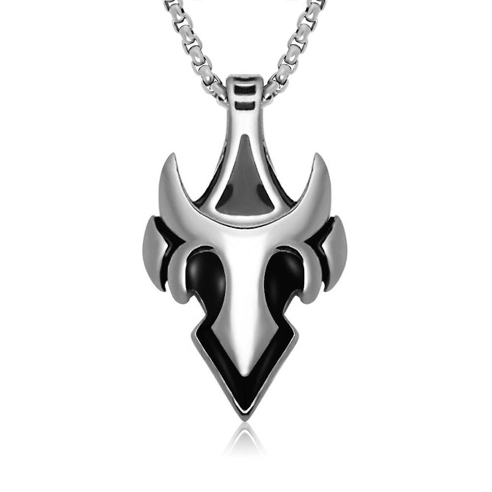 Trendsetter Fashion Wolf Tooth Fighters Pendant jewelry Accessories Titanium Steel Men Necklaces 1 Piece Chain Size 22-30 Inch retro stainless steel wolf tooth pendant necklace men jewelry