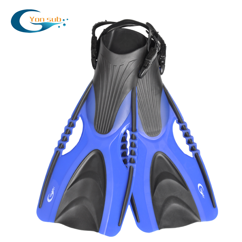 YON SUB Professional Scuba Diving Fins For Adult Adjustable Open Heel long Blade flippers Flexible Snorkeling