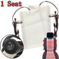 2pcs 1 Seat 12V Carbon Fiber Universal Heated Seat Heater Pads Car High/Low Round Switch Heater Warmer