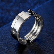 Único deformação beijar anel de peixe para homens de aço inoxidável gravado para sempre anéis nunca desaparecer banda de casamento masculino