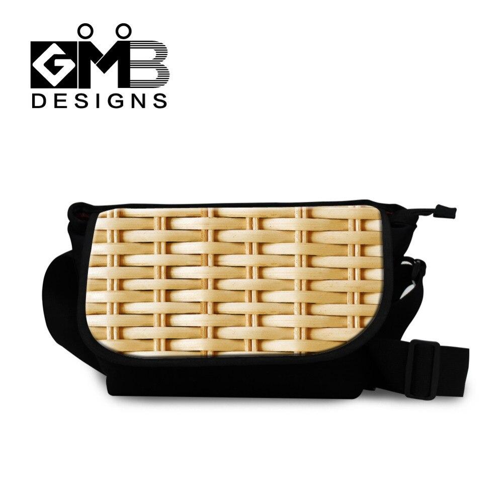 ⊹Холст сумки для женщин, мужчин Bamboo вязальные узор ...