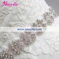 Free Shipping Rhinestone And Crystal Beaded Bridal Sash Belt For Wedding Dress 2 Pcs / Lot