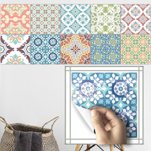 Funlife 20*20cm*10pcs/7.87*7.87inch* PVC Waterproof Self adhesive Wallpaper Bathroom Mediterranean Tile Sticker Wall Decal TS002