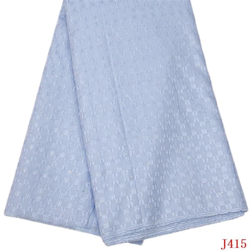 Dentelle africaine tissu suisse Vole dentelle 5 Yards bleu poudre 2019 brodé coton dentelle tissu hommes tissu HA415