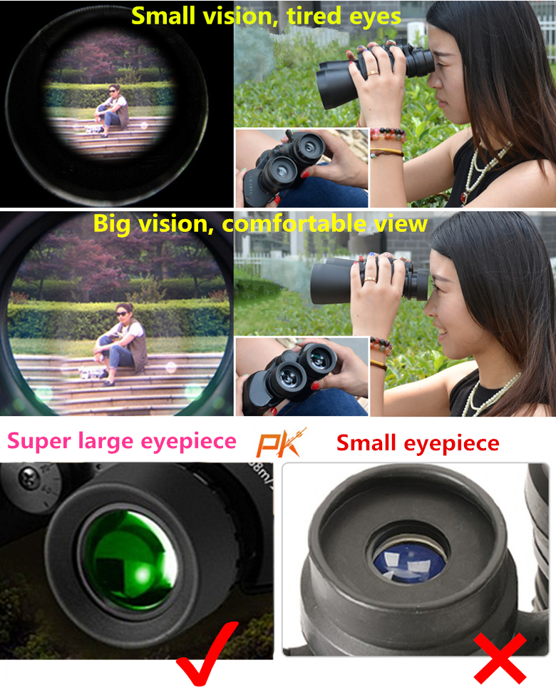 Super grande ocular hd grandes binóculos poderoso