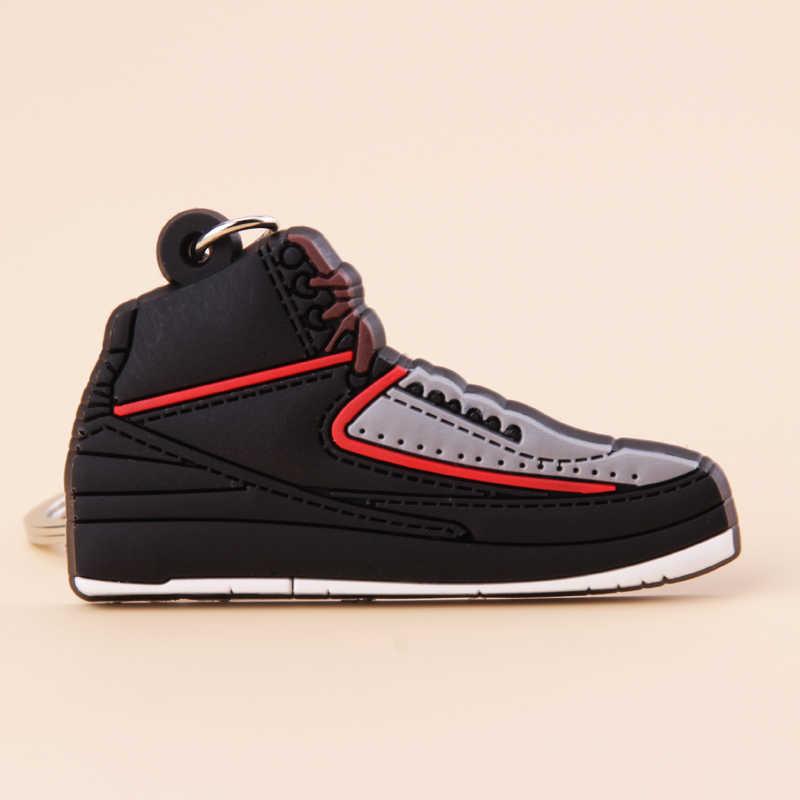 新ミニ靴ジョーダン 2 キーホルダー男性ウォメ子供キーリングギフトレトロバスケットボールスニーカーキーチェーンキーホルダーポルト音部記号