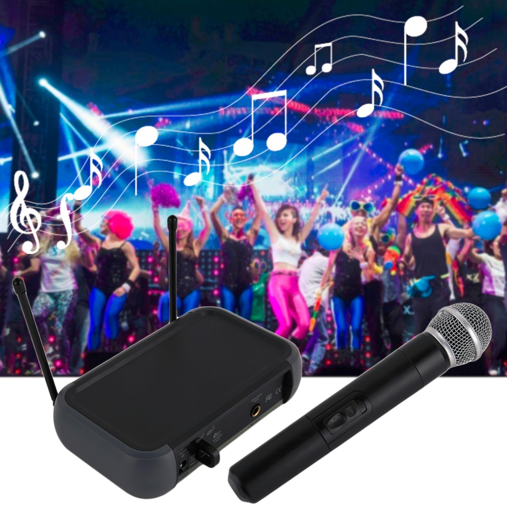 Professional Wireless Handheld Microphone System RV-90 Receiver Mic Great For KTV DJ Karaoke Meeting Dancing Hosting Church  professional vhf dual wireless microphone system mic for shure karaoke singing ktv stage conference computer microfone sem fio