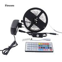 Firecore 5 M 5050 RGB Wodoodporna Elastyczna Taśma Led SMD 150/300 Leds Światło + Przełącznik Czujnika Ruchu PIR Auto + 12 V 2A Zasilanie + Kontroler