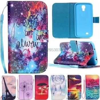 2dc3f48a7d7 Caso de Samsung Galaxy S 4 Samsung Galaxy S 4 mini S4 mini i9195 i9190 i9192  GT-i9195 GT-i9190 GT-i9192 caso de la cubierta del cuero del tirón de la  bolsa ...