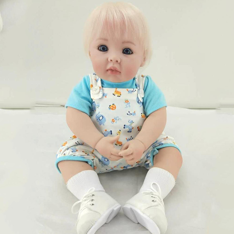 50CM Cotton Body Alive Doll Reborn Silicone Babies Children Brinquedos Reborn-baby Dolls Birthday Gift Boneca Reborn Realista original barbie dolls skipper dolphin magic adventure doll with clothin babies boneca brinquedos toys for children birthday gift