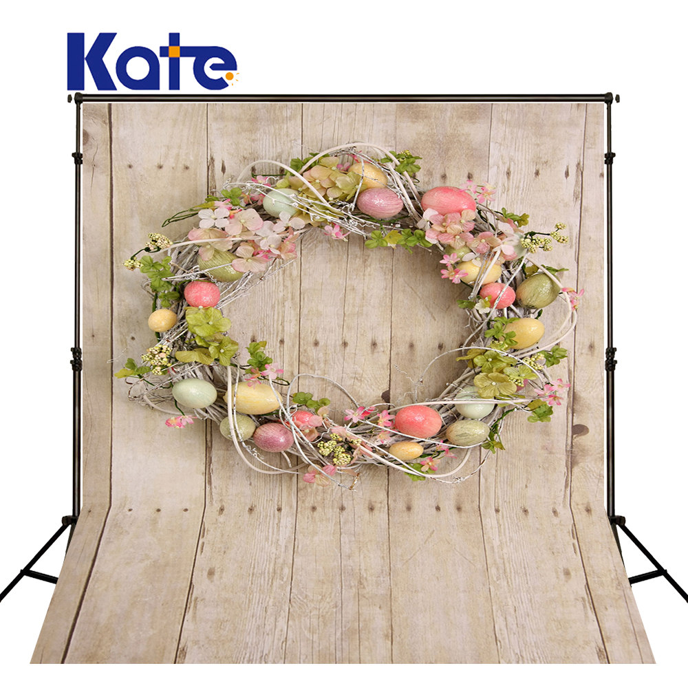 Kate Wood Easter Photo Backdrop Eggs And Wreath Photography Studio And Background Children Photocall Backdrop